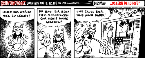 Cartoon: Ostern bei Doofs (medium) by Schweinevogel tagged schweinevogel,funny,witz,cartoon,schwarwel