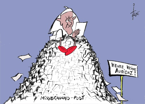 Cartoon: Keine Audienz (medium) by tiede tagged papst,rom,missbrauch,meldungen,tiede,cartoon,karikatur,papst,rom,missbrauch,meldungen,tiede,cartoon,karikatur