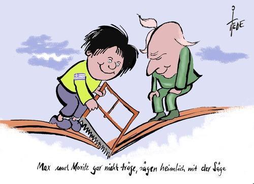max und moritz by tiede politics cartoon toonpool. Black Bedroom Furniture Sets. Home Design Ideas