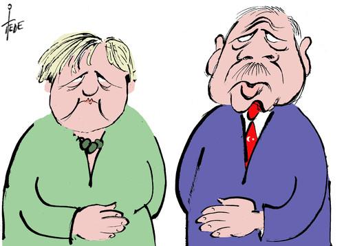 Karikatur Erdogan Merkel