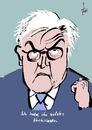 Cartoon: Frank Steinmeier (small) by tiede tagged frank,steinmeier,angela,merkel,gabriel,tiede,cartoon,karikatur,tiedemann