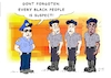 Cartoon: Racism in the police (small) by Guto Camargo tagged racism