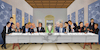 Cartoon: Last Supper (small) by Caner Demircan tagged uefa,champions,league,last,supper,da,vinci,football,soccer
