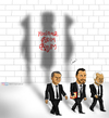 Cartoon: Unbeaten! (small) by Caner Demircan tagged senol,günes,ufuk,sarica,müfit,arin,besiktas