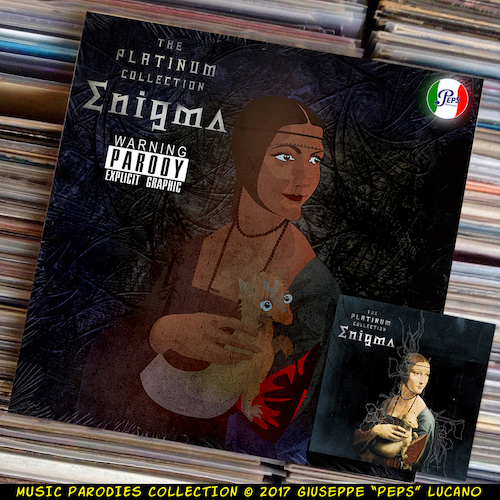Cartoon: Enigma - The Platinum Collection (medium) by Peps tagged enigma,the,platinum,collection