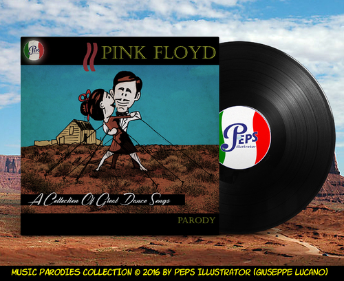 Cartoon: Pink Floyd A Collection (medium) by Peps tagged pink,floyd,music,wall,opera,theatre,scream,brick