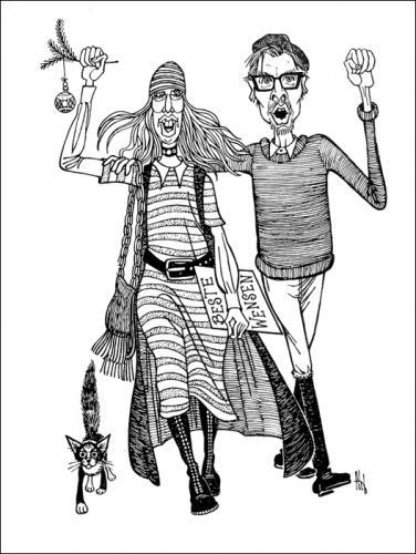 cartoon best wishes medium by stef 1931 1995 tagged hippiescat