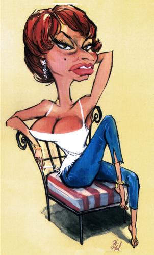 Cartoon: Movie Caricatures 4 (medium) by Stef 1931-1995 tagged movie,caricature,hollywood