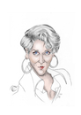 Cartoon: Meryl Streep (small) by Thomas Vetter tagged meryl,streep