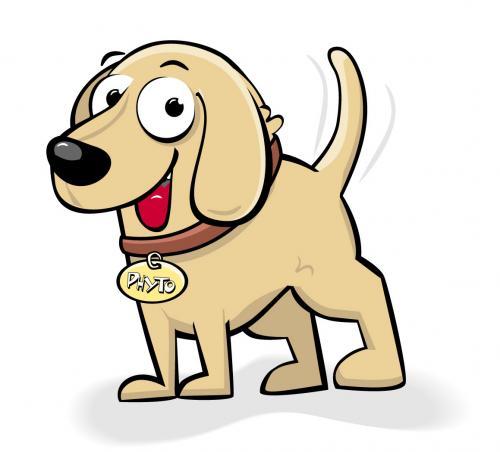 Cartoon: Phyto Dog (medium) by thelooneybin tagged flash,animals,cartoon,