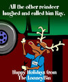 Cartoon: Happy Holidays (small) by thelooneybin tagged holiday,cartoon,humor,christmas,reindeer,funny