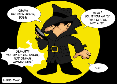 Cartoon: CIA agent and the death of Osama (medium) by Ludus tagged osama,cia