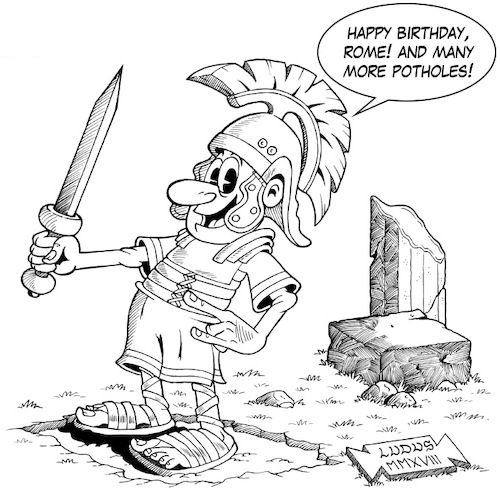 Cartoon: Happy Birthday Rome (medium) by Ludus tagged rome