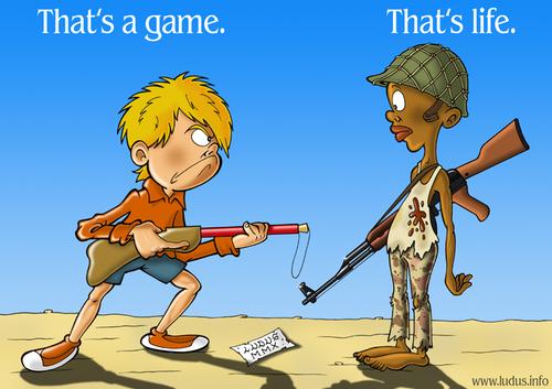 Kids at war By Ludus | Politics Cartoon | TOONPOOL