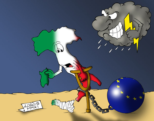 Cartoon: Politic situation in Italy (medium) by Ludus tagged italy,ue