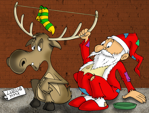Cartoon: Santa Claus (medium) by Ludus tagged christmas,santaclaus