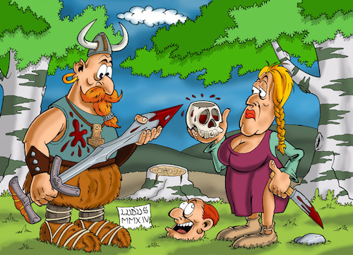 Cartoon: Vikings (medium) by Ludus tagged viking,vikings