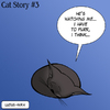 Cartoon: Cat Story 3 (small) by Ludus tagged cat,cats