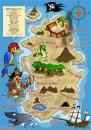 Cartoon: Pirates Treasure Map (small) by Ludus tagged pirates,treasure,map