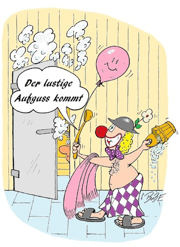 Sauna Aufguss By Bube Media Culture Cartoon Toonpool