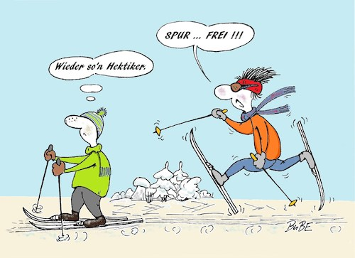 Cartoon: Skilanglauf - Hektiker (medium) by BuBE tagged skilanglauf,wintersport