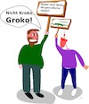 Cartoon: Groko (small) by Jochen N tagged groko,grosse,koalition,spd,cdu,csu,merkel,schulz,bundestagswahl,regierung,opposition,sondierung,bundeskanzlerin,alternativ,alternativlos,demo,kroko