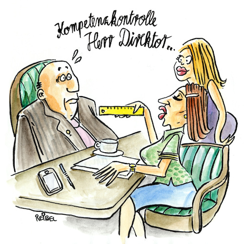 Cartoon: Skills matter (medium) by REIBEL tagged frauenquote,business,chefetage,soft,skills,emanzipation,diskriminierung,frauenquote,business,chefetage,soft,skills,emanzipation,diskriminierung