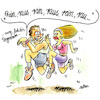 Cartoon: Fitnessprogramm (small) by REIBEL tagged iwatch,fitness,jogging,sex,partner,frau,mann,armband,tracker