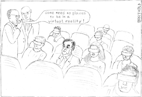 Cartoon: Fillon -still in the real world? (medium) by Barthold tagged fillon,virtualreality,vrglasses,cinemaaudience