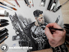 Cartoon: Drawing Punisher - 3D Comics (small) by Art by Mihai Alin Ion tagged drawing,painting,illustration,3dart,artwork,marvel,netflix,the,punisher,frankcastle,castiglione,comicbook,marvelcomics,punishercomics,drawingthepunisher