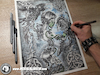 Cartoon: Drawing Underskin - Dark Art (small) by Art by Mihai Alin Ion tagged drawing,painting,illustration,darkkart,underskin,mihaialinion,abstract,art,realistic,pencildrawing,portfolio