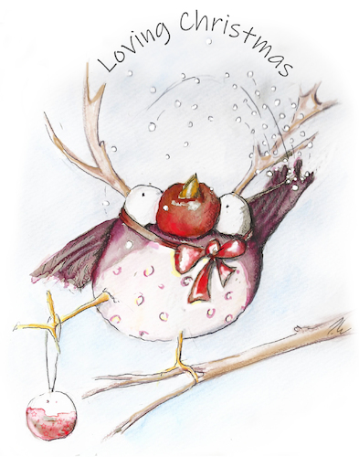 Cartoon: loving chrismas (medium) by OTTbyrds tagged christmas,weihnachten,weihnachtsgefühl,frohes,fest