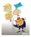 Cartoon: BERLIN CONFERENCE (small) by vasilis dagres tagged greece,turkey,berlin,conference,erntogan,merkel,pytin,trump