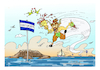 Cartoon: god PAN and ISLAND SANTORINI (small) by vasilis dagres tagged greece,summer,holidays