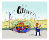 Cartoon: Quiet (small) by vasilis dagres tagged quiet,france,neoliberalism,conservatism,european,union