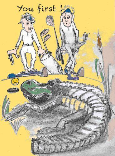 Golf By higi   Sports Cartoon   TOONPOOL Cartoon Alligator Playing Golf on cartoon stay in shape, cartoon body of water, goodbye cruel world cartoon golf, sea animal headcovers golf,