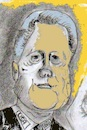 Cartoon: Bill Clinton (small) by higi tagged expresident,usa
