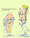 Cartoon: Queen and Prince Charles (small) by higi tagged queen charles comic cartoon halftimejob royal