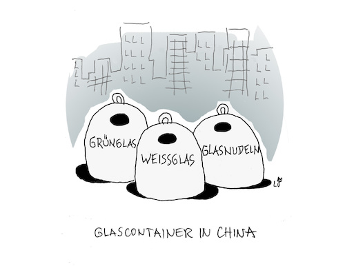 Glascontainer in China