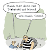 Cartoon: Frage (small) by Lo Graf von Blickensdorf tagged diebstahl,polizei,gestohlenrte,mann,karikatur,lo,cartoon,dieb,räuber,sack,interview,presse,wortspiel,kriminell