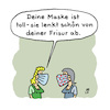 Cartoon: Maskentrick (small) by Lo Graf von Blickensdorf tagged mundnasenmaske,covid19,pandemie,frau,freundin,corona,maske,frisur,haare,ablenkungsmanöver,merkel,politik,karikatur,lo,cartoon