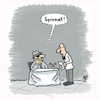 Cartoon: Spionage (small) by Lo Graf von Blickensdorf tagged spion,spionage,restaurant,spinat,kellner,geheim,agent,geheimagent