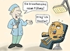 Cartoon: Donut beim Zahnarzt (small) by freshdj tagged donut,food,dentist,doctor