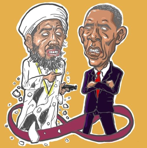 usama in laden cartoons. Cartoon: Osama bin Laden