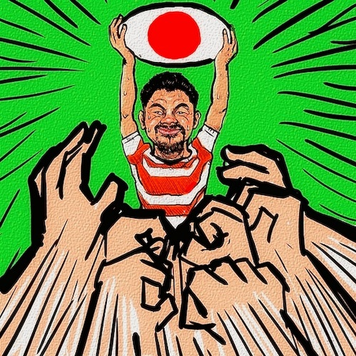 Cartoon: Rugby World Cup (medium) by takeshioekaki tagged rugby
