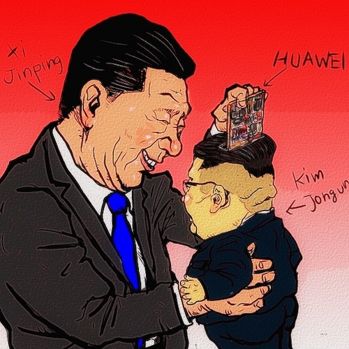 Cartoon: Talks (medium) by takeshioekaki tagged huawei