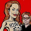 Cartoon: Angelina Jolie (small) by takeshioekaki tagged angelina