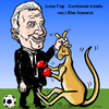 Cartoon: Asian Cup Football (small) by takeshioekaki tagged football,asian,zaccheroni