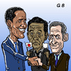 Cartoon: Prime Minister G8 stand out? (small) by takeshioekaki tagged g8 japan sarközy obama