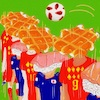 Cartoon: Sushi (small) by takeshioekaki tagged football